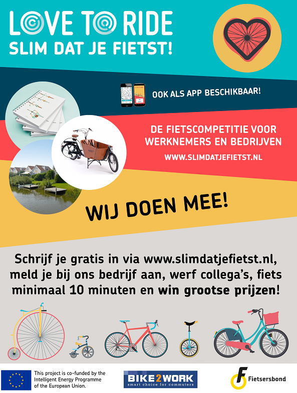 klik hier om naar slimdatjefietst.nl / love-to-ride te gaan. De fietscompetitie voor werknemers en bedrijven.